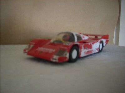 Scalextric Vintage Slot Racing-Porsche Le Mans Car-1.32 Scale For Spares/repair