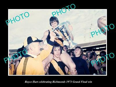Old Large Historic Photo Of Royce Hart 1973 Richmond Fc Grand Final Win 3
