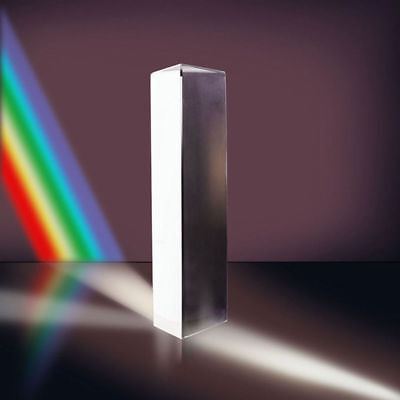Optical Glass Triple Triangular Prism Physics Teaching Light Spectrum COOL UK
