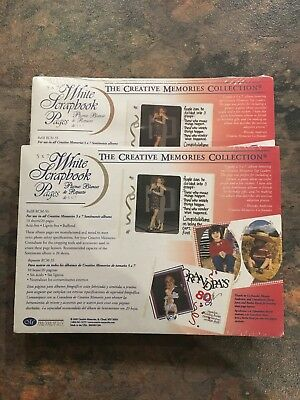Creative Memories 5 X 7 White Scrapbook Pages - 2 packs of 10
