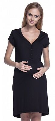 2 x HAPPY MAMA Maternity Nursing Breastfeeding Nightdress Shirt Gown Size 8/10