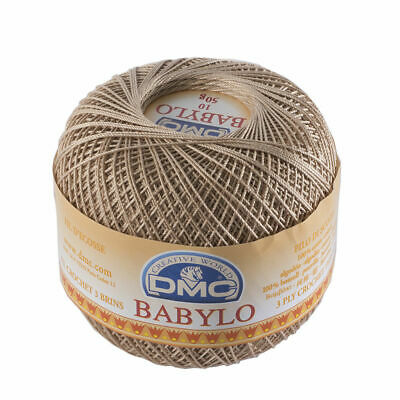 DMC Babylo 10 Crochet Cotton, 50g Ball, Colour 3864 Light Brown