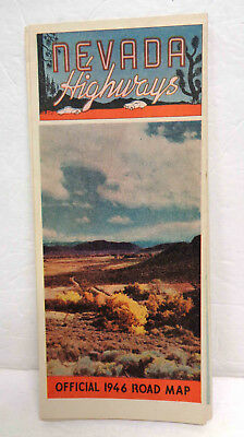 Vintage 1946 Nevada Highways Official Road Map!