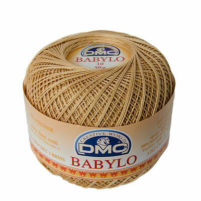 DMC Babylo 10 Crochet Cotton, 50g Ball, Colour 437 Light Tan
