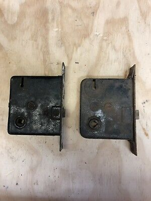 Antique Rim Lock Door Latch - Set of 2