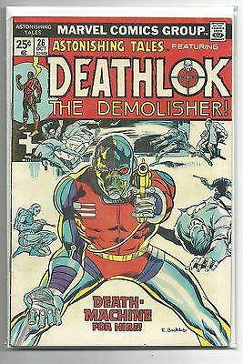 (1970 SERIES) MARVEL ASTONISHING TALES DEATHLOK #26 27 LOT 2nd 3rd APPEARANCE