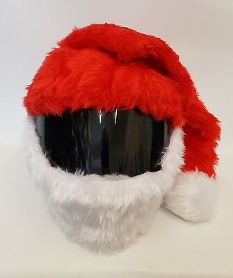 Christmas Santa Hat Funny Heeds Crazy Crash Helmet Cover