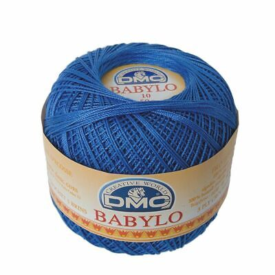 DMC Babylo 10 Crochet Cotton, 50g Ball, Colour 482 Blue