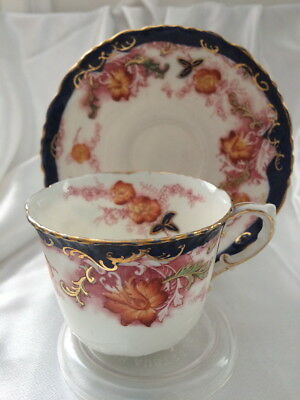 🌟 DUO 1800s 1900s RARE CROWN HN79694 FOR MUTUAL STORE ENGLAND TEACUP SAUCER