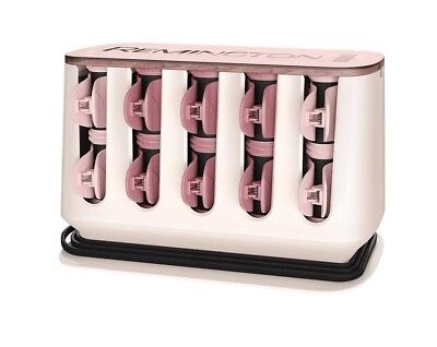 Remington H9100 Proluxe heated rollers,rose gold 20velvet covered rollers