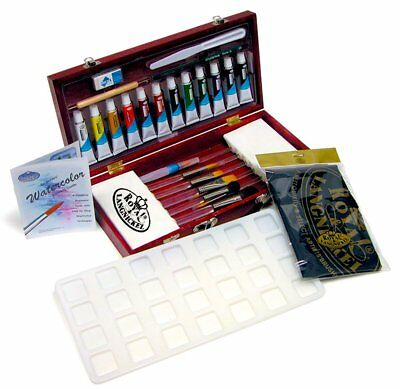 Royal and Langnickel 31 Piece Watercolour Paint Set in Painting Wooden Brush Box