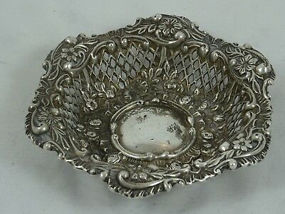 LATE VICTORIAN silver TRINKET DISH, 1900, 35gm