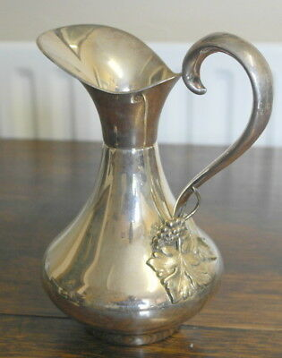 antique silver plate WINE JUG PITCHER