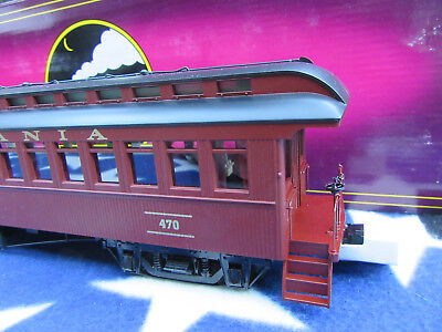 MTH  Spur 0 Pennsylvania  64 Ft. Wood Coach Car    O-Scale Eisenbahnen