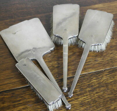 antique silver HAND MIRROR AND BRUSH set  birmingham 1933