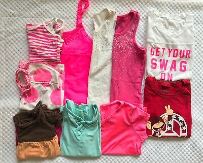 Lot of 10 Summer Girls Tops Size M 7-8 Justice, Limited Too, Danskin Now & More