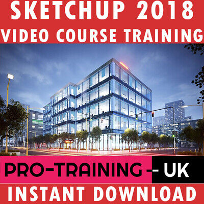 Video Course SketchUp 2018 Pro Training Lessons Tutorials - Instant Download