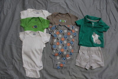Lot Of 6 - Newborn & 0-3 Month Boys Clothes