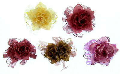 lace flower hair clip and brooch pin dual purpose,10cm weddings