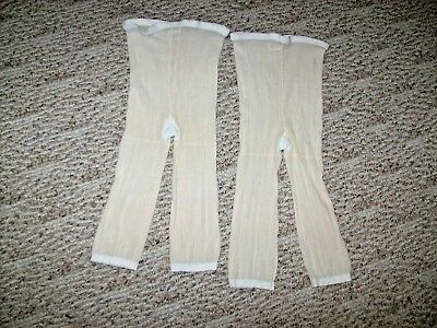 Vintage Long Leg Pants Liner Size Lg/xlg~Nylon & Spandex~Made In Usa~Lot Of 2