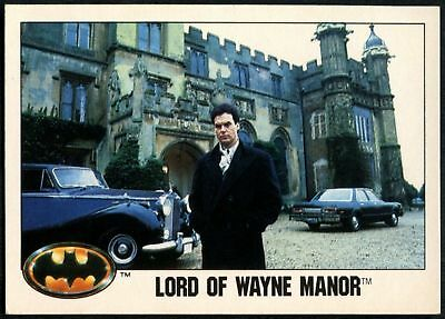 Lord Of Wayne Manor #53 Batman 1989 Topps Trade Card (C1367)