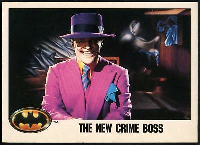 The New Crime Boss #46 Batman 1989 Topps Trade Card (C1367)