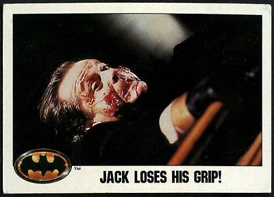 Jack Loses His Grip! #34 Batman 1989 Topps Trade Card (C1367A)