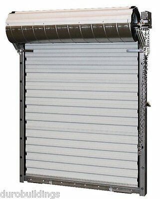 DuroSTEEL JANUS 8'Wx9'H Heavy Duty 3652 Series FL Wind Rated Roll-up Door DiRECT