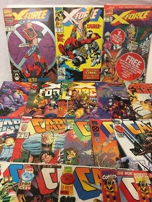 Marvel Comics X-force & Cable ( Mixed Lot Of 21 ) 2nd Deadpool, Fine Plus