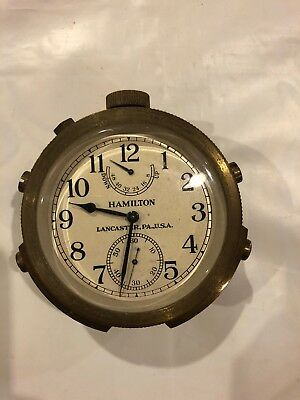 Vintage 1943 US Navy Hamilton Chronometer Watch Model 22