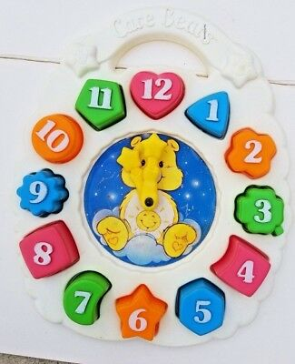 Care Bears  Plastic Learning Clock and Shapes Vintage 1984