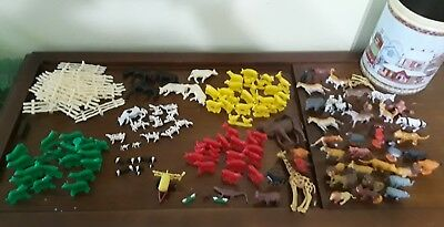 Large Lot of 162 Vintage matrx & Plastic Farm Animals & other.