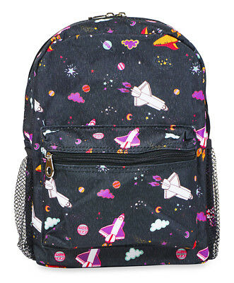 Jenzys Boys Kids Galaxy Mini Toddler Backpack Bag For Preschool or Kindergarten