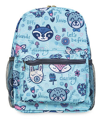 Jenzys Girls Raccoon Mini Toddler Backpack Bag For Preschool or Kindergarten