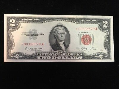 US $2 Red Seal Star Note Series 1953