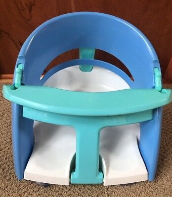Dream Baby Safety Infant Bath Seat Blue White Tub Suction Cup Chair VGUC!
