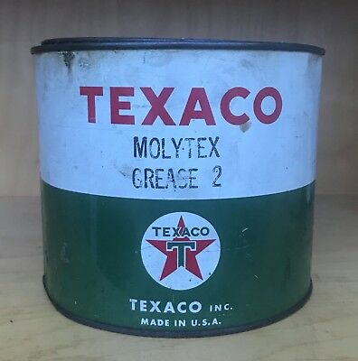 Vintage Texaco Molytex Grease 2 - 5 Pound Can