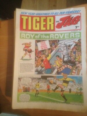 Tiger Comics 1970 46 Issues Good Condition Includes Roy of the Rovers