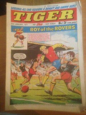 Tiger Comics 1971 51 Issues Good Condition Includes Roy of the Rovers