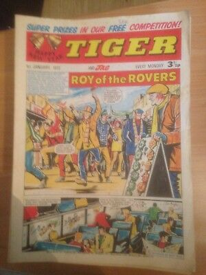 Tiger Comics 1972 41 Issues Good Condition Includes Roy of the Rovers