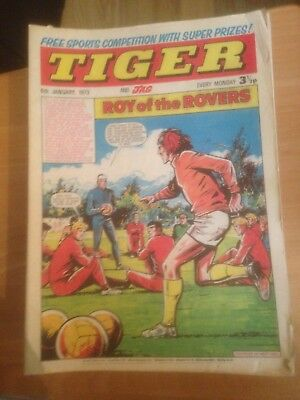 Tiger Comics 1973 50 Issues Good Condition Includes Roy of the Rovers