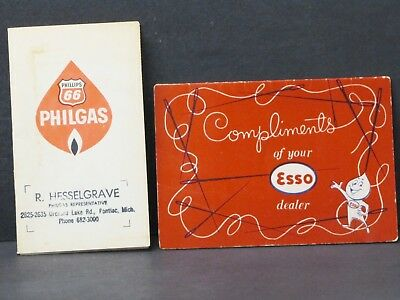 Phillips 66 & Esso/Exxon Sewing Needles - 2 Vintage Advertising Promotions