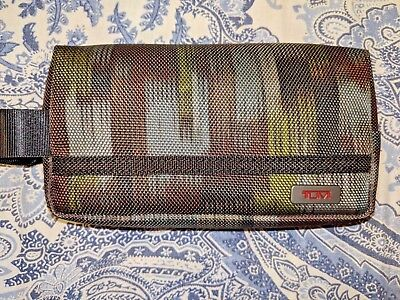 New With Tags   TUMI Cord Pouch Multi-Color Rectangular Shape.