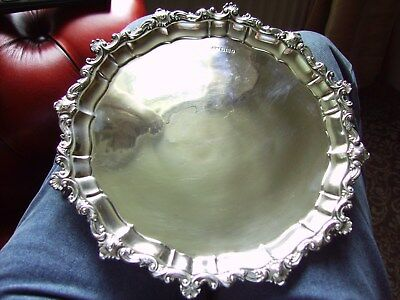 Victorian Silver Salver Shefield 1897 15 Oz Sterling Silver,10 Inches Wide