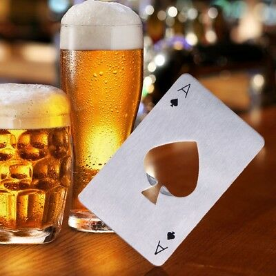 1PC eTya Creative Poker Card Beer Bottle Opener Personalized Funny Stainless Ste