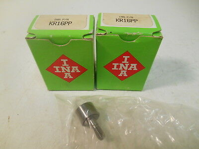 (2) NIB Ina KR16PP 16mm OD Cam Follower Bearings