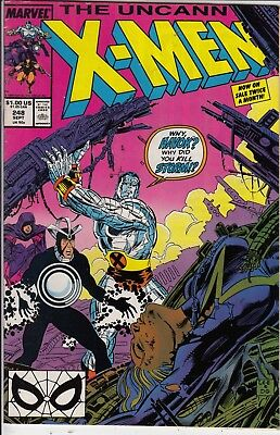 X Men  The Uncanny       #248 1989  Vf / Vf+ Red Cover  American Marvel Comic  A