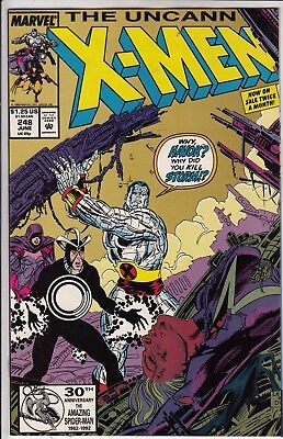 X MEN  THE UNCANNY       #248 SPECIAL  2nd PRINT GOLD COVER 1989  VF/VF+ MARVEL