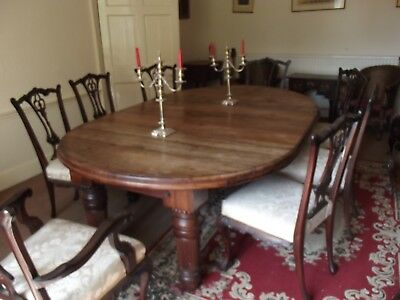 Antique extending Victorian Dining Table - Solid Rosewood Top