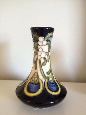 MOORCROFT 12 Days of Christmas Five Gold Rings 62/4 Vase Best Quality RRP £200
